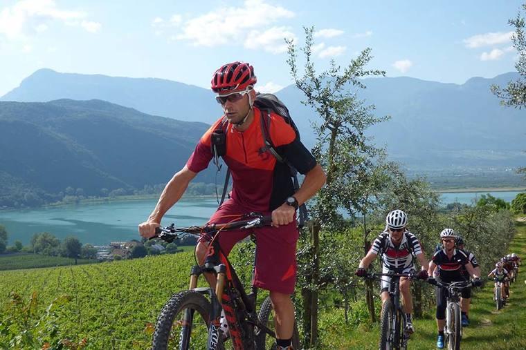 Mountainbike holidays Südtiroler Weinstraße - Tramin/Kalterer See