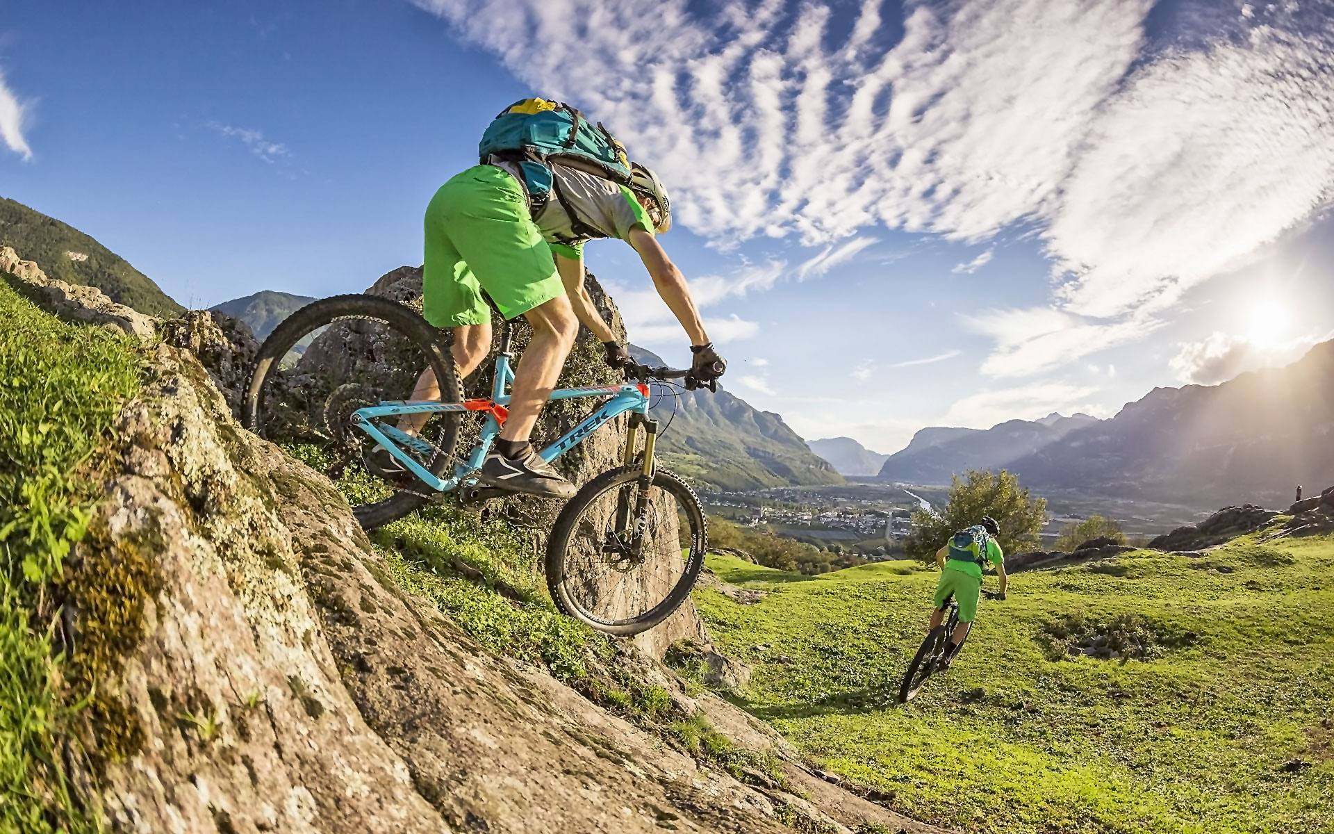 MTB regions in Austria, Italy and Switzerland