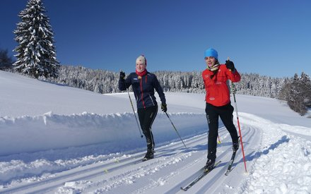Cross country skiing in Scheidegg