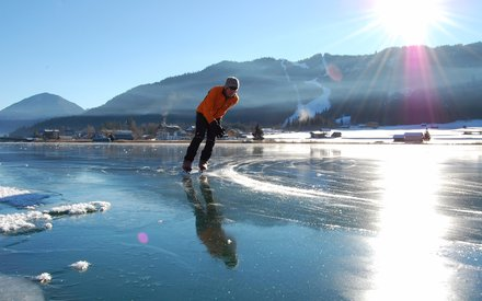 Ice skating at Weissensee
