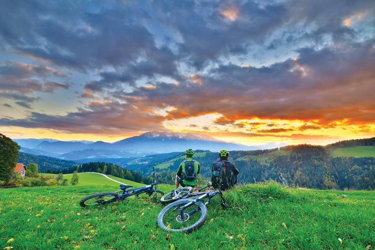 Mountainbike region in Slovenia
