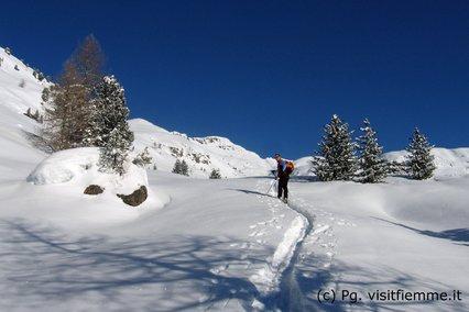 Ski touring in Val di Fiemme