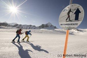Skitour im Gletscherskigebiet Kitzsteinhorn in Kaprun