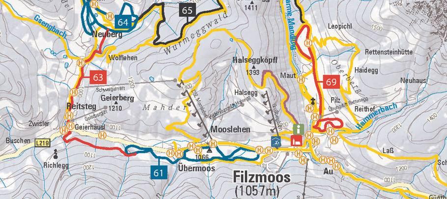 Trail area Salzburger Sportwelt
