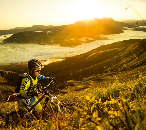 Mountainbiken in Kirchberg, Kitzbüheler Alpen, Tirol