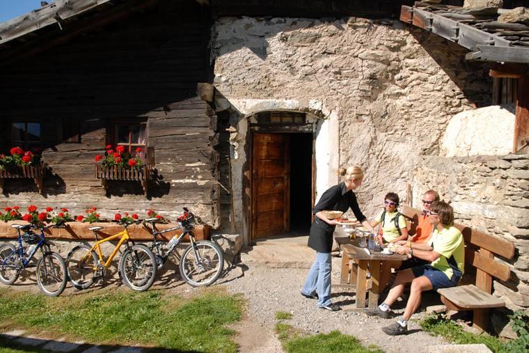 MTB-Einkehr Bikeurlaub Südtirol