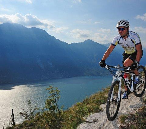 Bikeguideand owner, Silvio, Aktivhotel Santalucia Gardasee