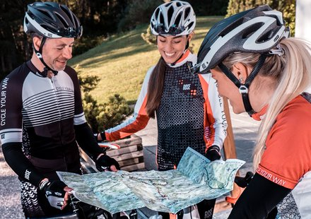 Begeleide racefiets tochten in Zuid-Tirol