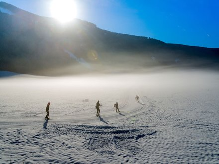 Cross country skiing in Gsieser Tal