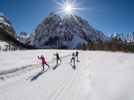 Cross country skiing in South Tyrol