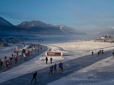 Ice skating in Austria