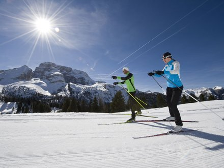 Langlaufen Dolomitenregion Drei Zinnen