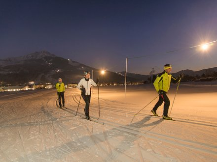 night Cross Country Skiing in Tyrol