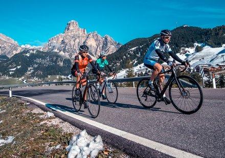 Racefiets in Zuid-Tirol