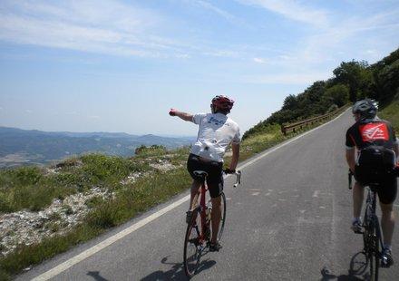 Rennradfahren in Italien