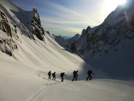 Ski touring in the Carnic Alps