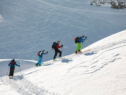 Ski touring in the Lesach valley