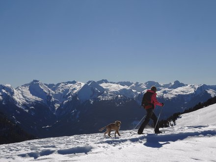 Snowshoe hiking in Italy