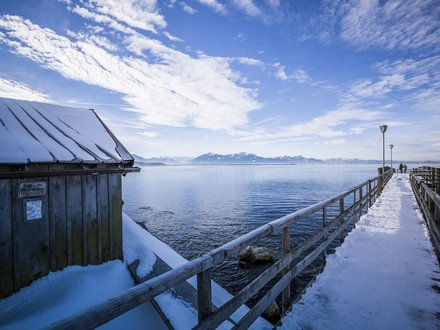Winter holidays at lake Chiemsee  ©Chiemgau Tourismus