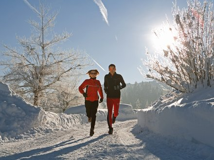 Winter holidays at the Weissensee lake