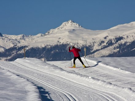 XC ski trails at the the Weissensee lake