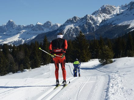XC ski trails in Italy - Dolomites © orlerimages.com