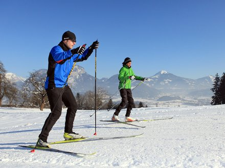 XC skiing in Erpfendorf