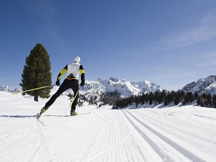 XC skiing in South Tyrol