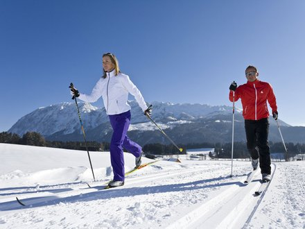 XC skiing in Styria