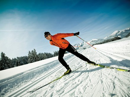 XC skiing in the Kitzbüheler Alps