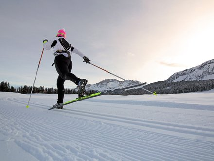 XC skiing in Val di Fiemme © Modica