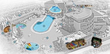 Pool-Landschaft Hotel Lindenhof