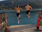 Abkühlung im Ossiacher See